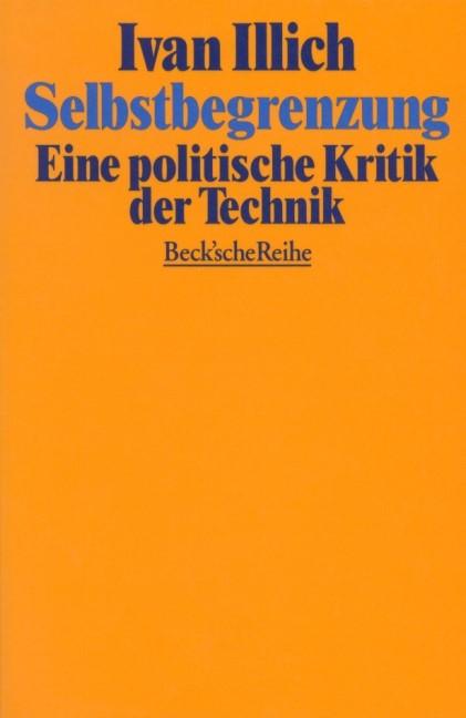 Cover des Buches 'Selbstbegrenzung'