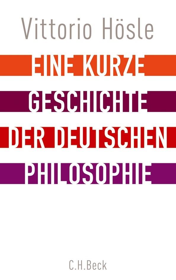 Cover des Buches 'Eine kurze Geschichte der deutschen Philosophie'