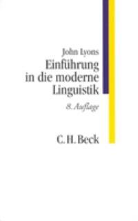 Cover des Buches 'Einführung in die moderne Linguistik'