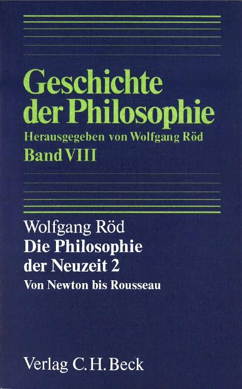 Cover des Buches 'Geschichte der Philosophie  Bd. 8: Die Philosophie der Neuzeit 2'