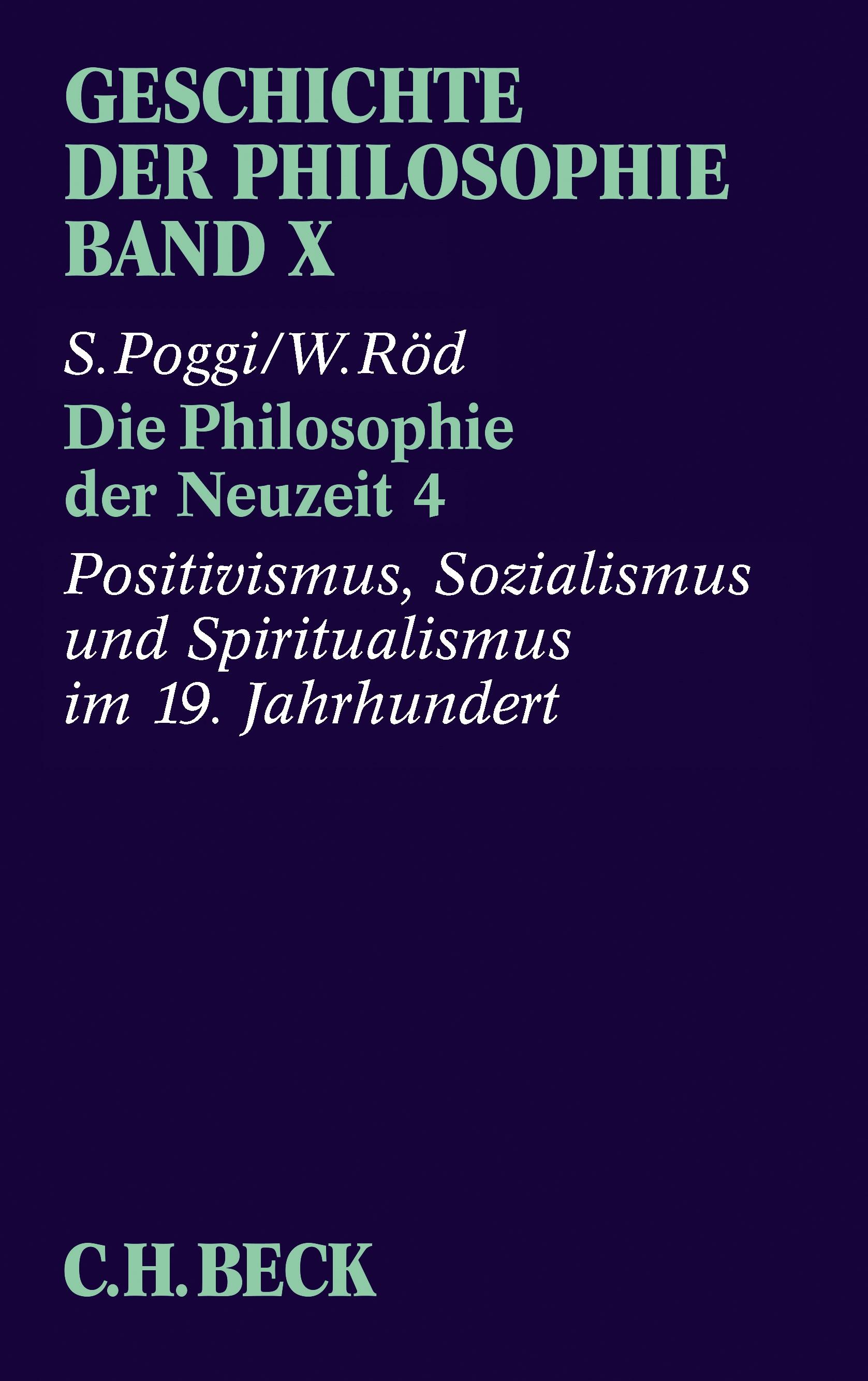 Cover des Buches 'Geschichte der Philosophie  Bd. 10: Die Philosophie der Neuzeit 4'