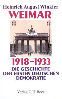 Cover des Buches 'Weimar 1918-1933'