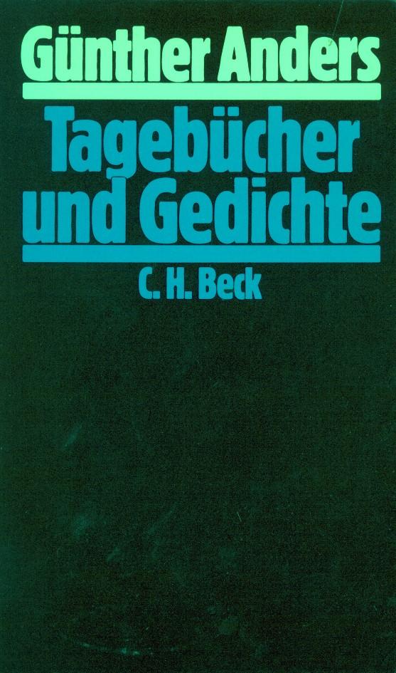 Cover des Buches 'Tagebücher und Gedichte'