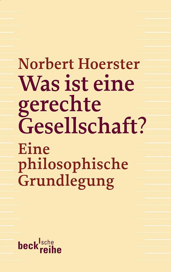 Cover des Buches 'Was ist eine gerechte Gesellschaft?'