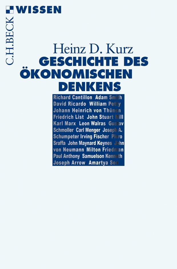 Cover des Buches 'Geschichte des ökonomischen Denkens'