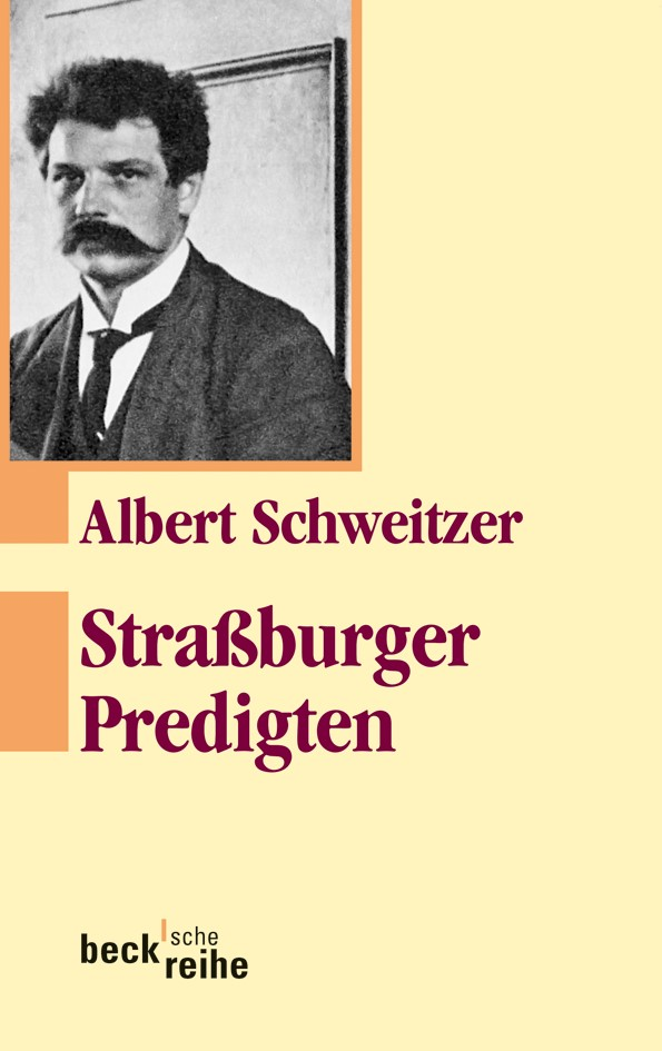 Cover des Buches 'Straßburger Predigten'