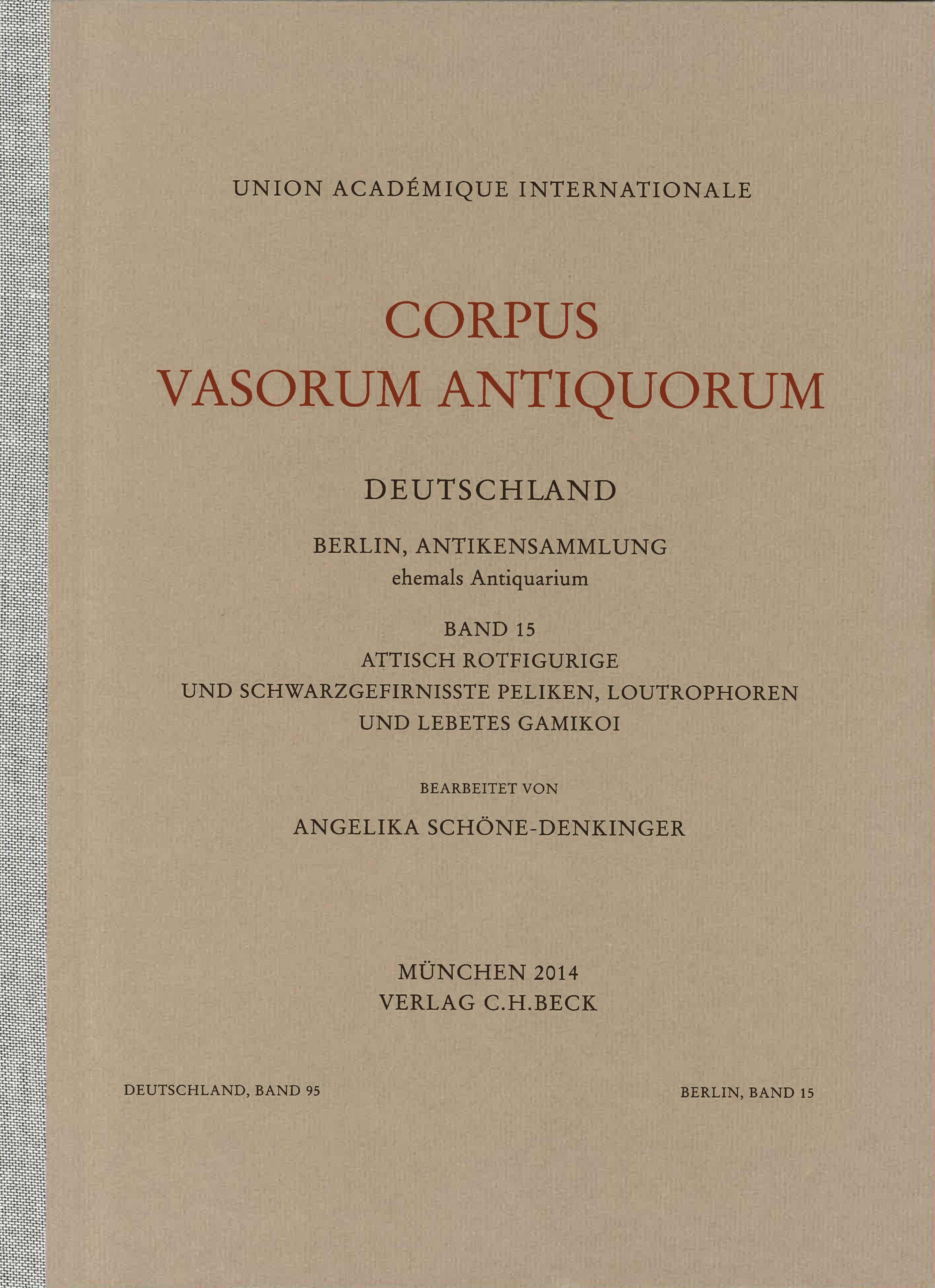 Cover des Buches 'Corpus Vasorum Antiquorum Deutschland Bd. 95:  Berlin Band 15'