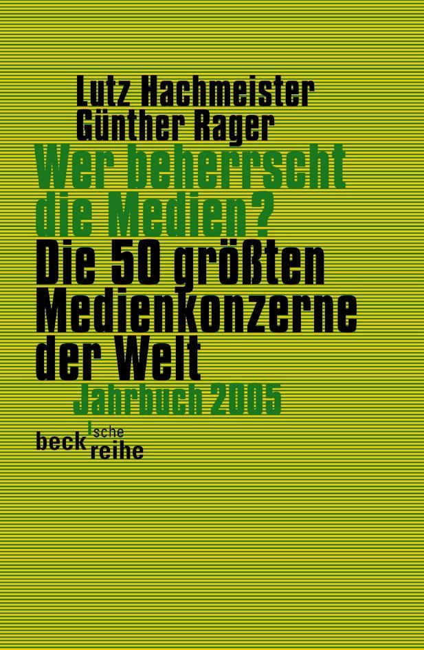 Cover des Buches 'Wer beherrscht die Medien?'