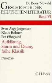 Cover des Buches 'Geschichte der deutschen Literatur  Bd. 6: Aufklärung, Sturm und Drang, Frühe Klassik (1740-1789)'