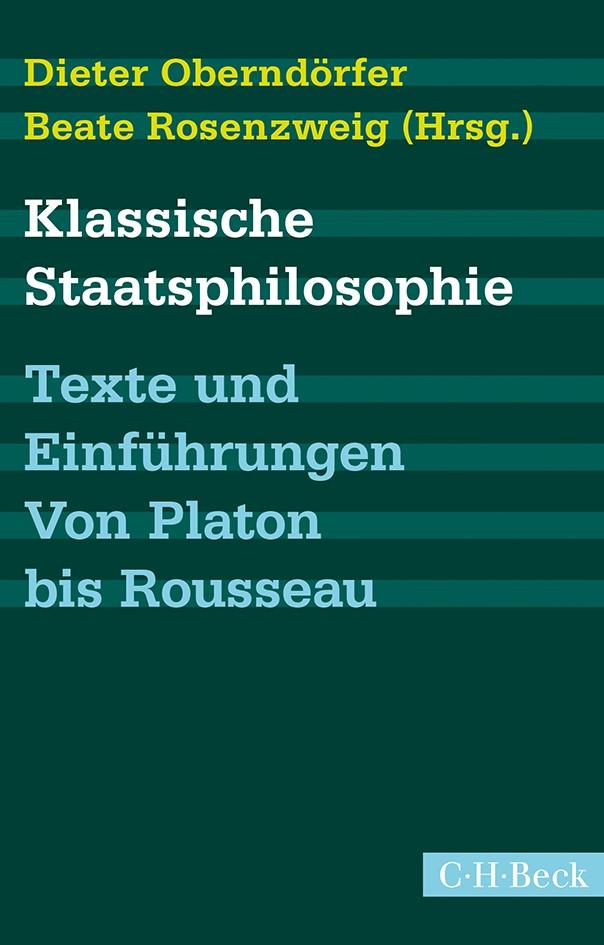 Cover des Buches 'Klassische Staatsphilosophie'