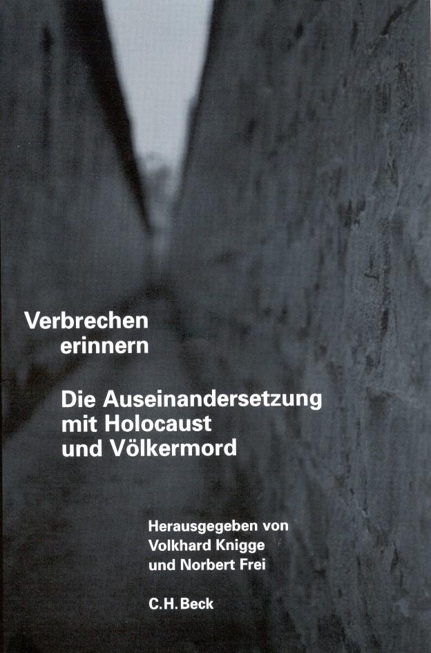 Cover des Buches 'Verbrechen erinnern'