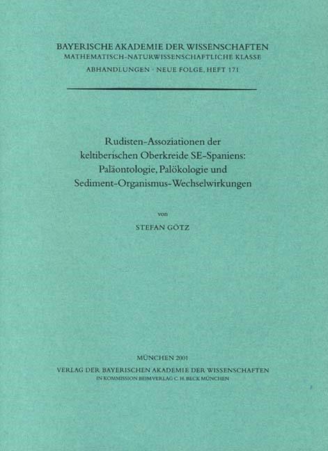 Cover des Buches 'Rudisten-Assoziationen der keltiberischen Oberkreide SE-Spaniens: Paläontologie, Palökologie und Sediment-Organismus-Wechselwirkungen'