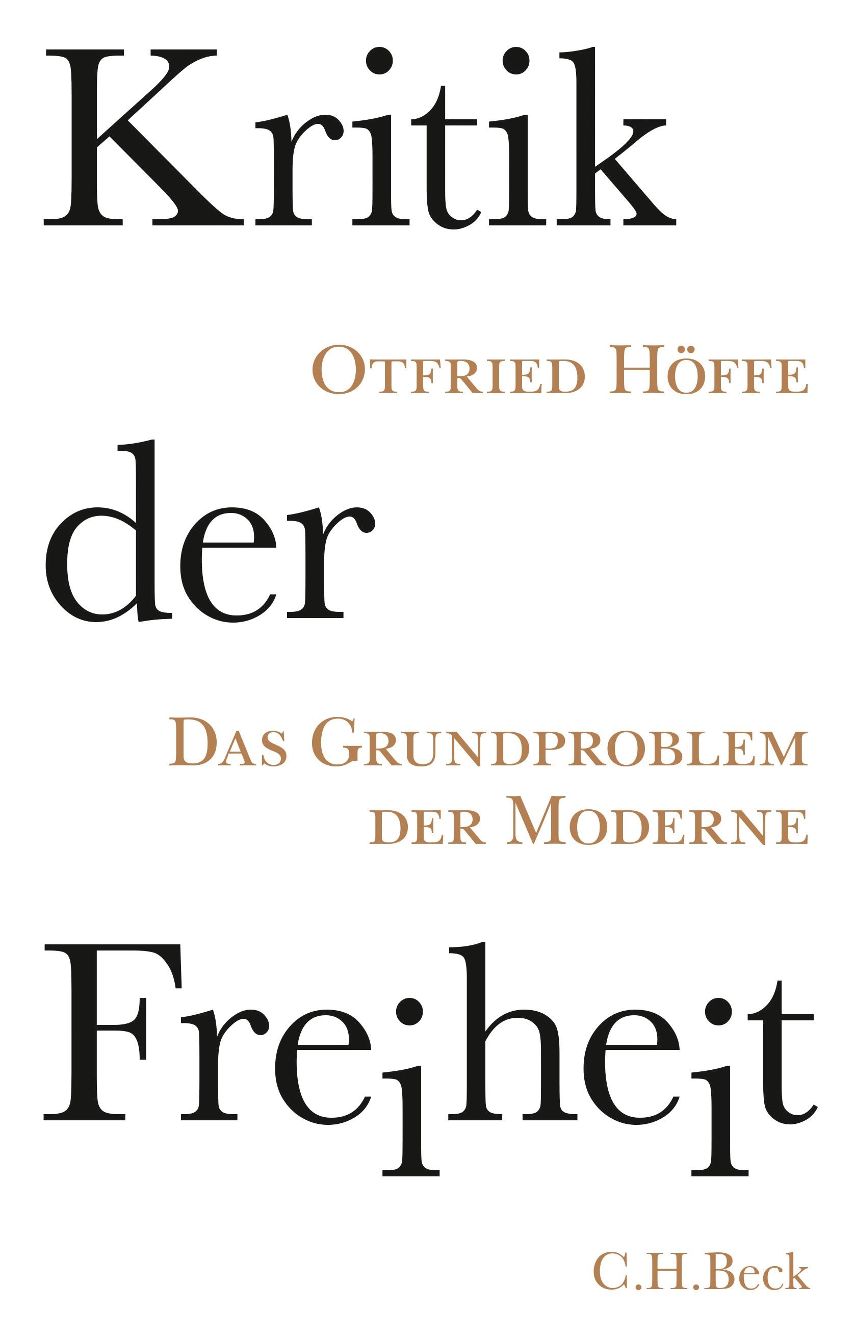 Cover des Buches 'Kritik der Freiheit'