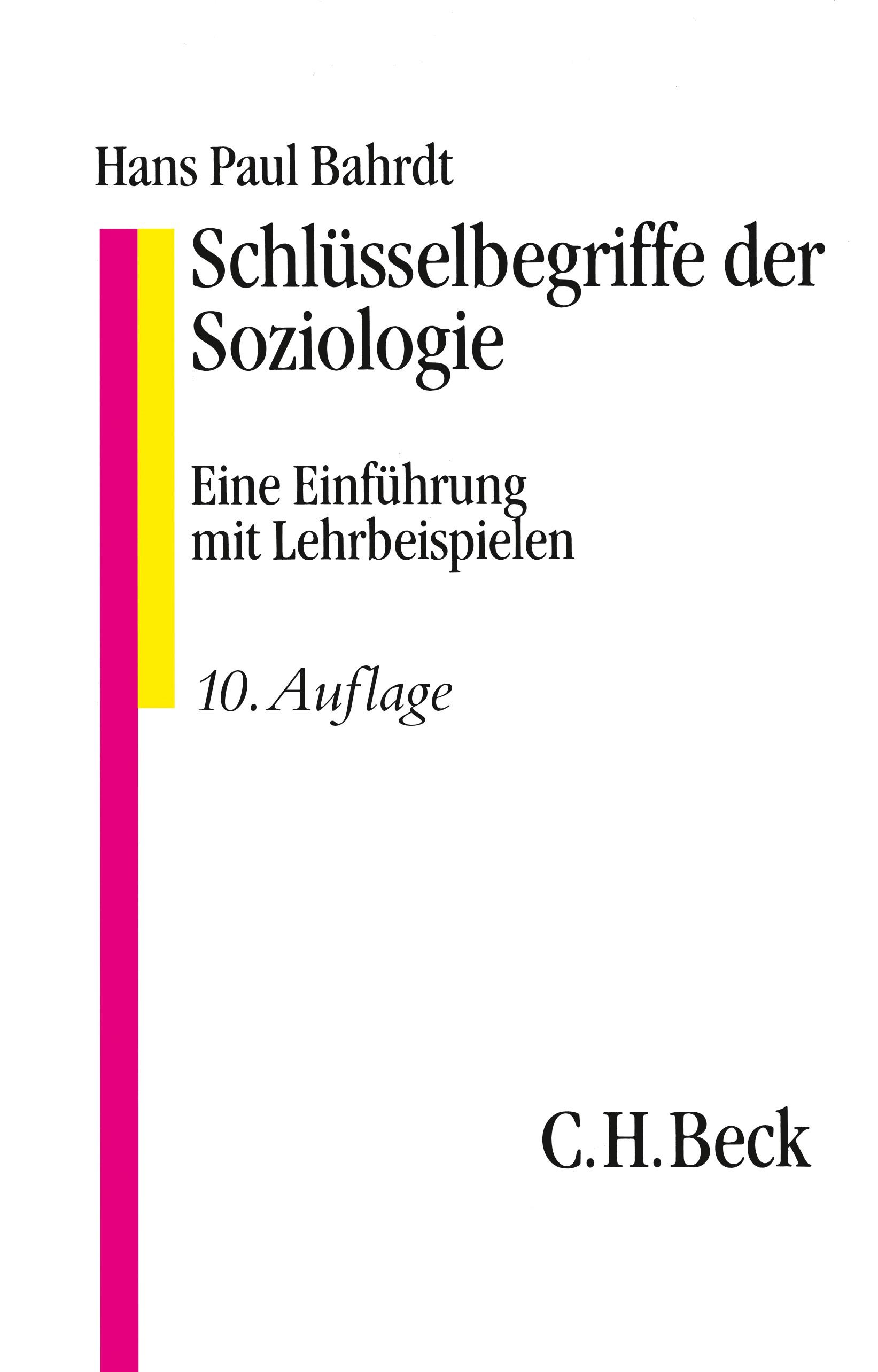Cover des Buches 'Schlüsselbegriffe der Soziologie'