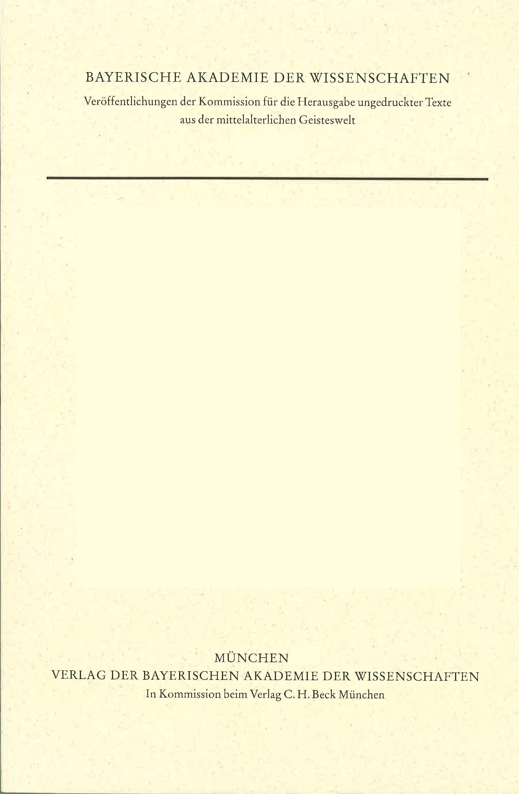 Cover des Buches 'Heinrich: Schriften zur Ars vetus'