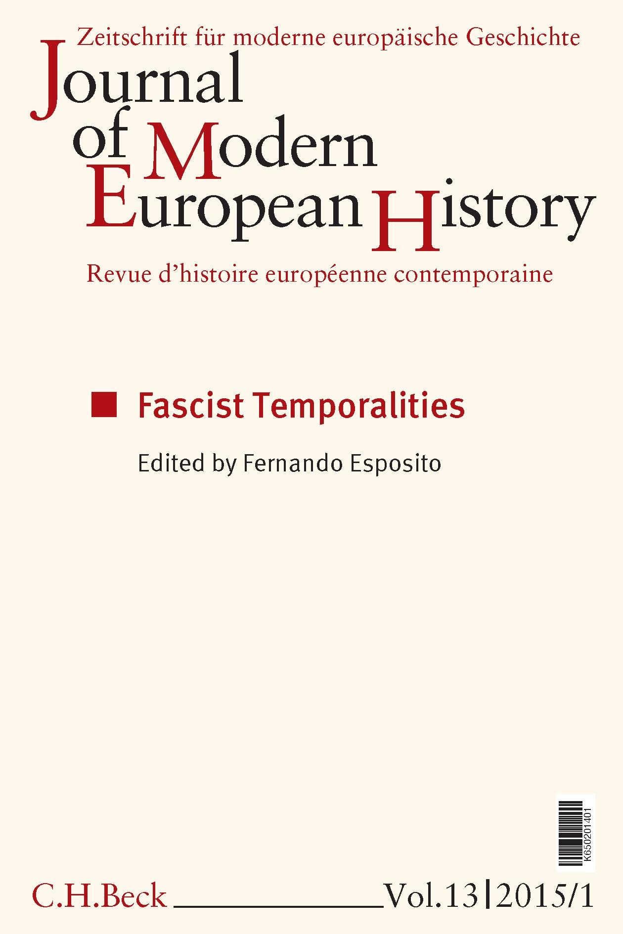 Cover des Buches 'Journal of Modern European History. Volume 13 (2015) Heft 1 = Zeitschrift für moderne europäische Geschichte = Revue d`histoire européenne contemporaine'