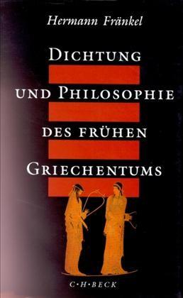 Cover des Buches 'Dichtung und Philosophie des frühen Griechentums'