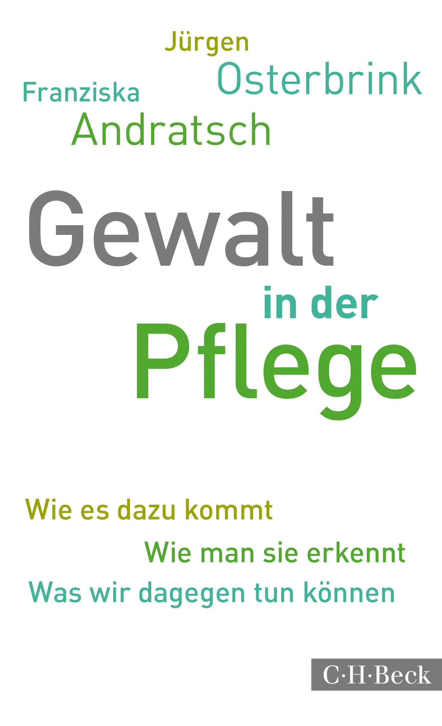 Cover des Buches 'Gewalt in der Pflege'