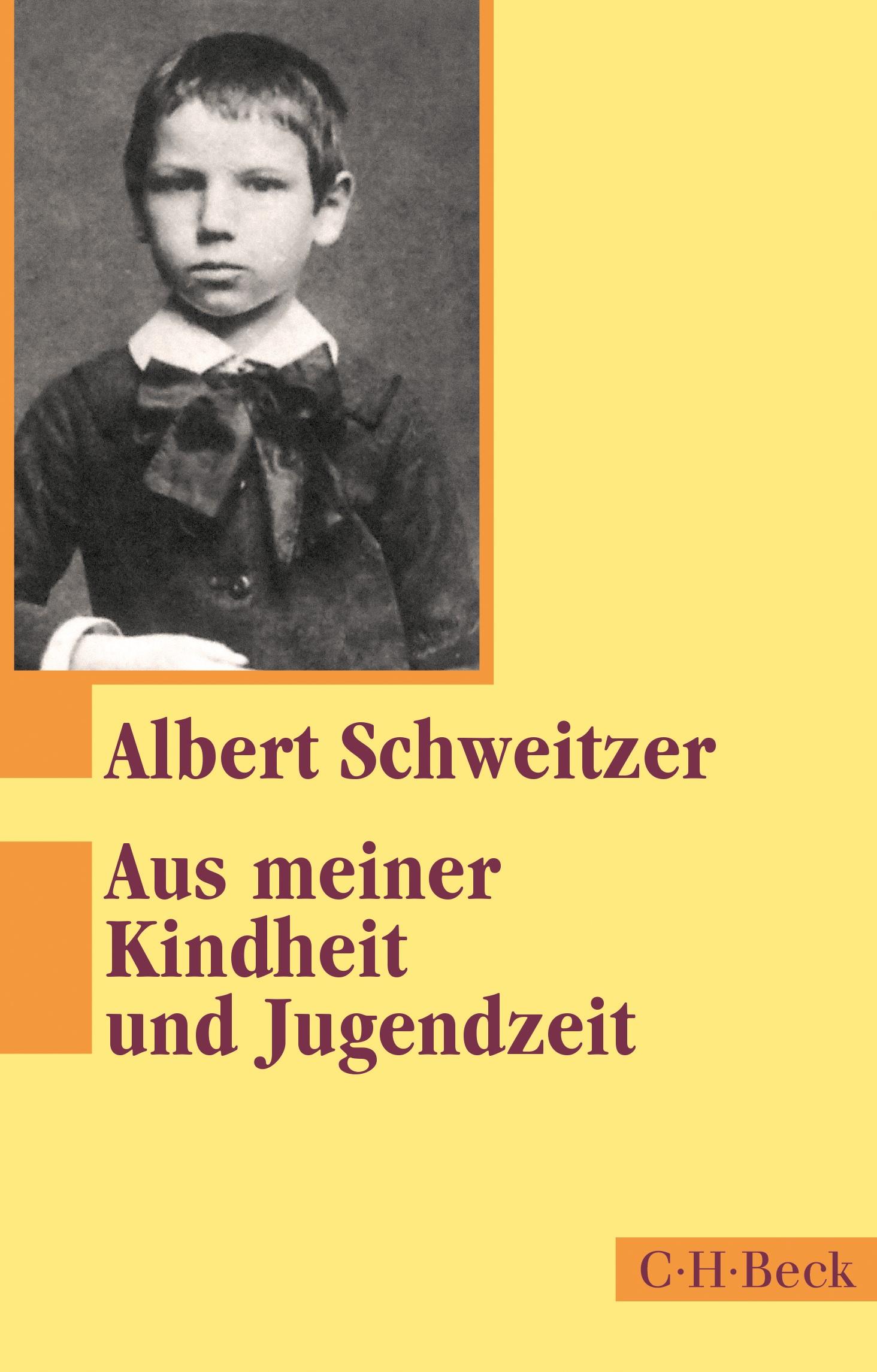 Cover des Buches 'Aus meiner Kindheit und Jugendzeit'