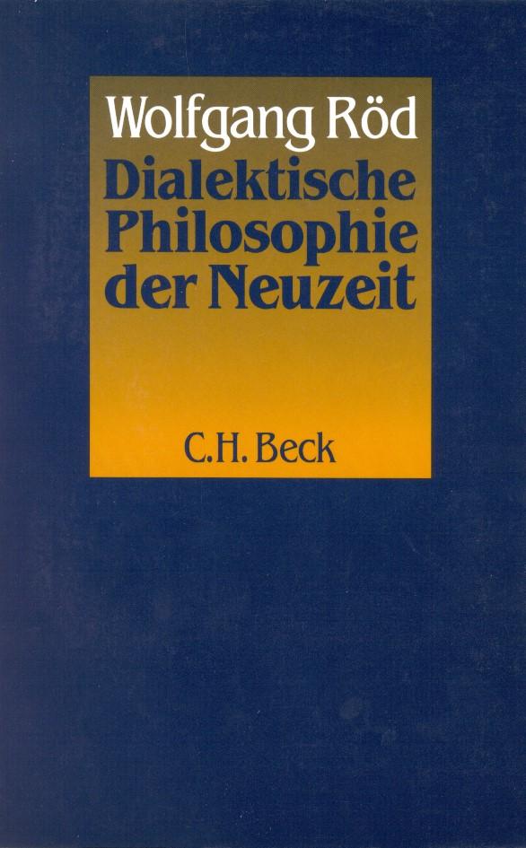 Cover des Buches 'Dialektische Philosophie der Neuzeit'