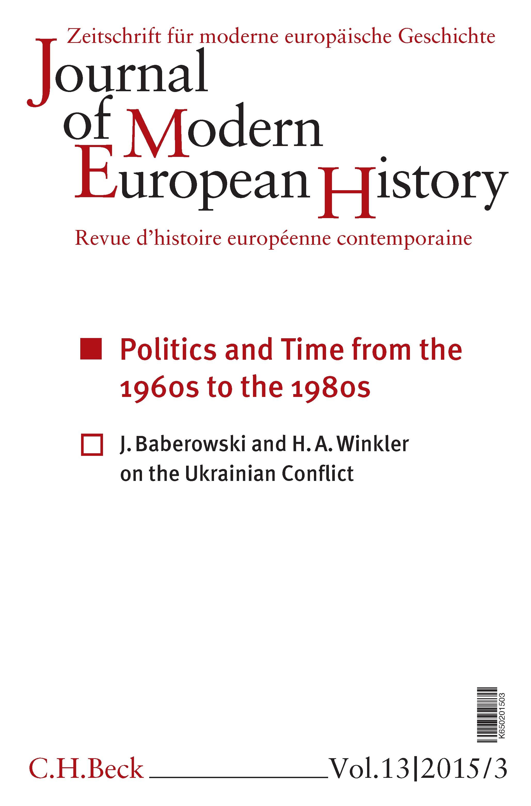Cover des Buches 'Journal of Modern European History. Volume 13 (2015) Heft 3 = Zeitschrift für moderne europäische Geschichte = Revue d`histoire européenne contemporaine'