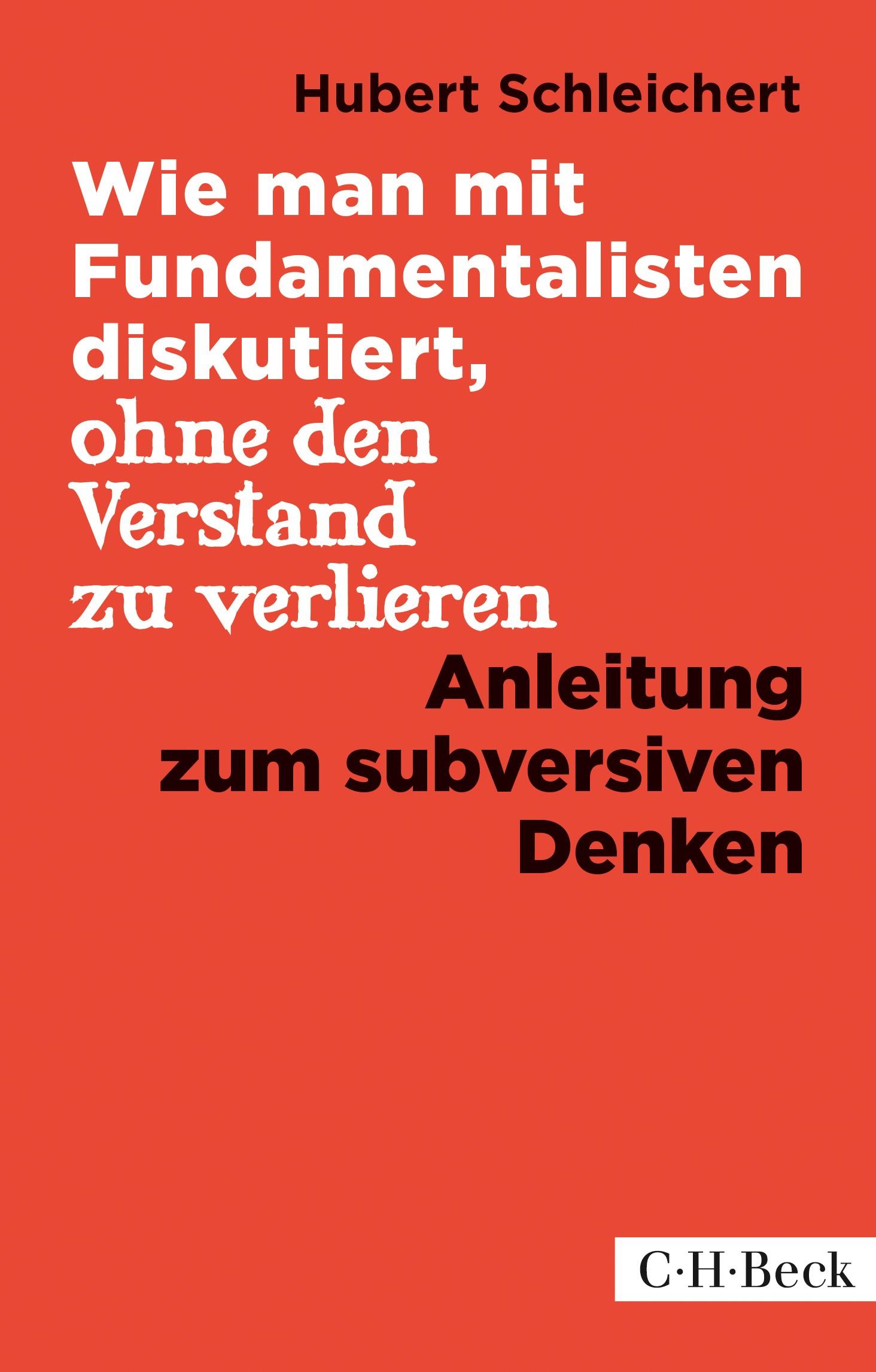 Cover des Buches 'Wie man mit Fundamentalisten diskutiert, ohne den Verstand zu verlieren'