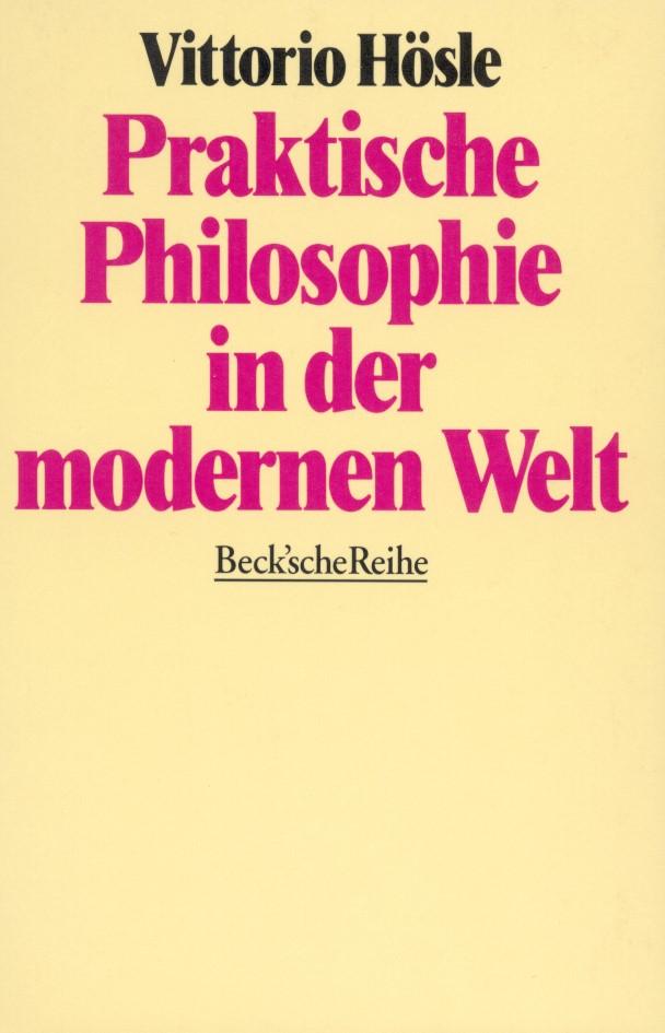 Cover des Buches 'Praktische Philosophie in der modernen Welt'