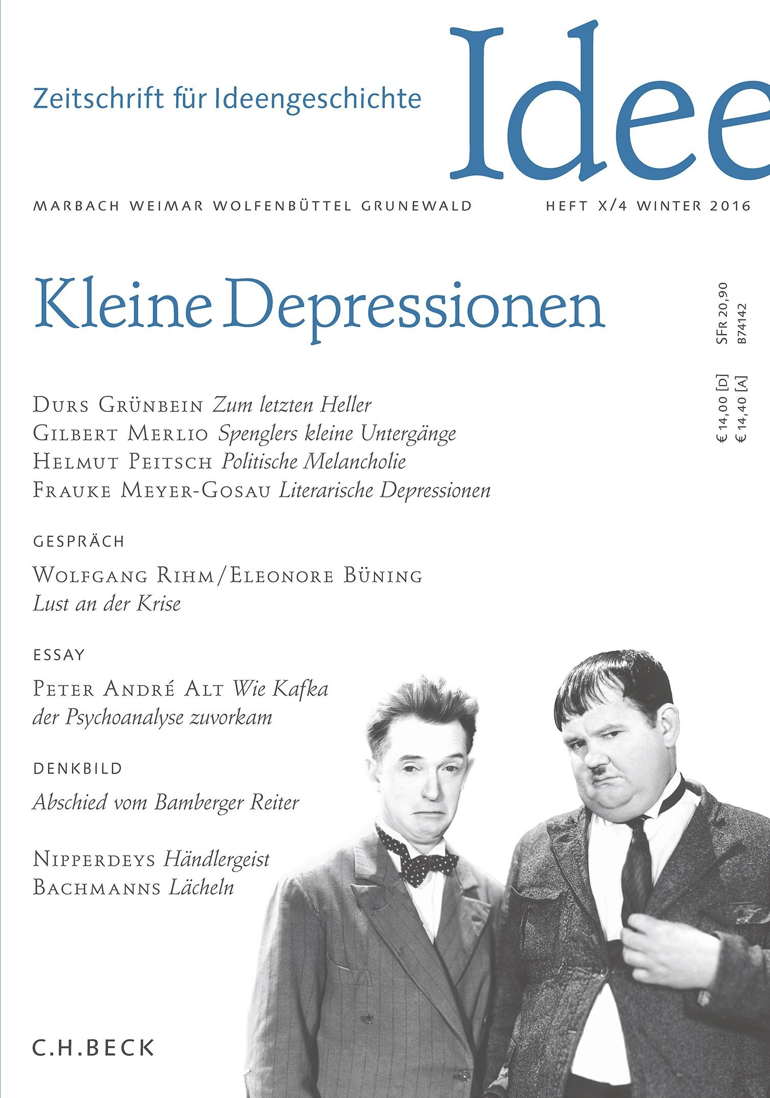 Cover des Buches 'Zeitschrift für Ideengeschichte Heft X/4 Winter 2016'