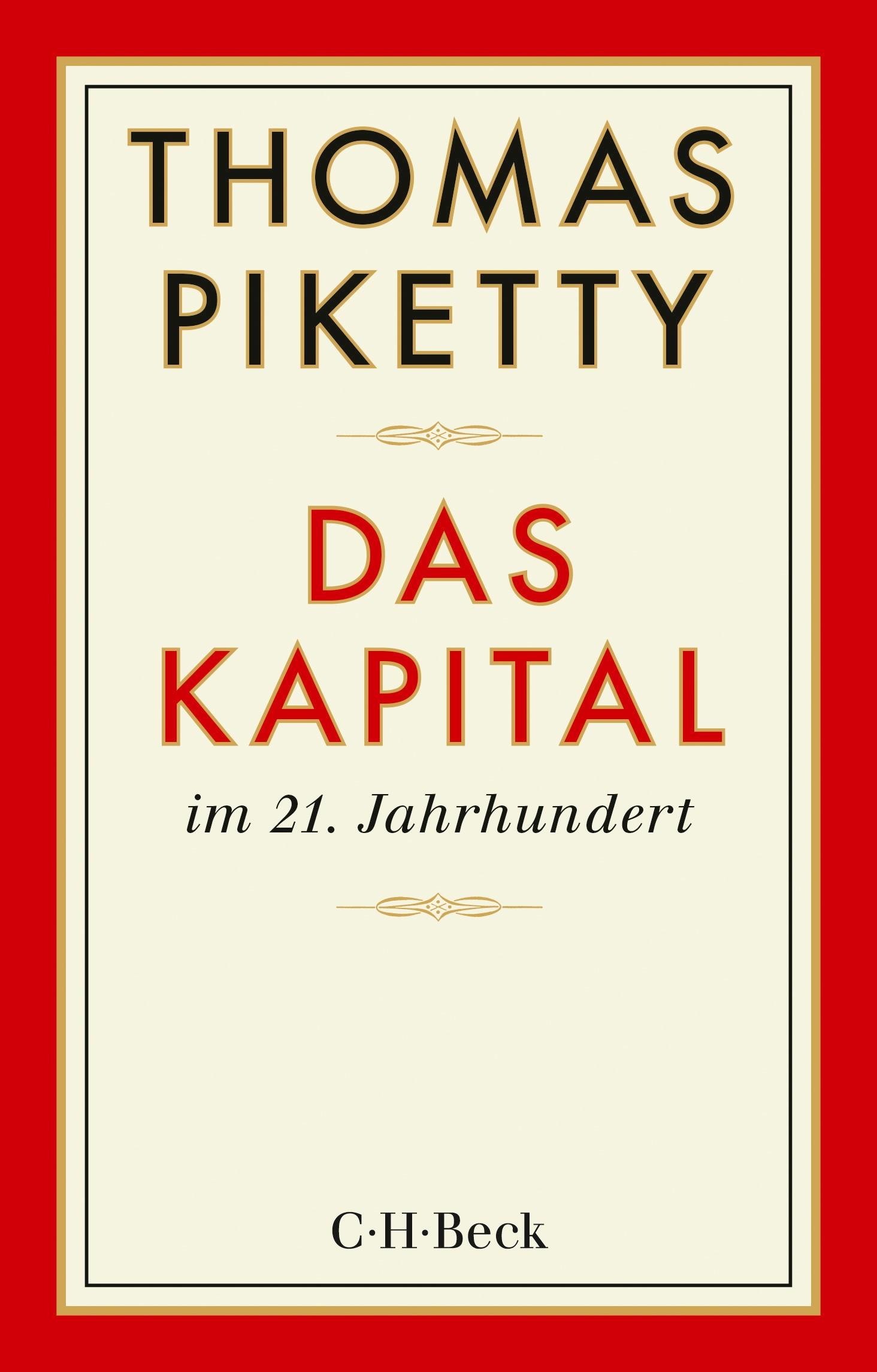 Cover des Buches 'Das Kapital im 21. Jahrhundert'
