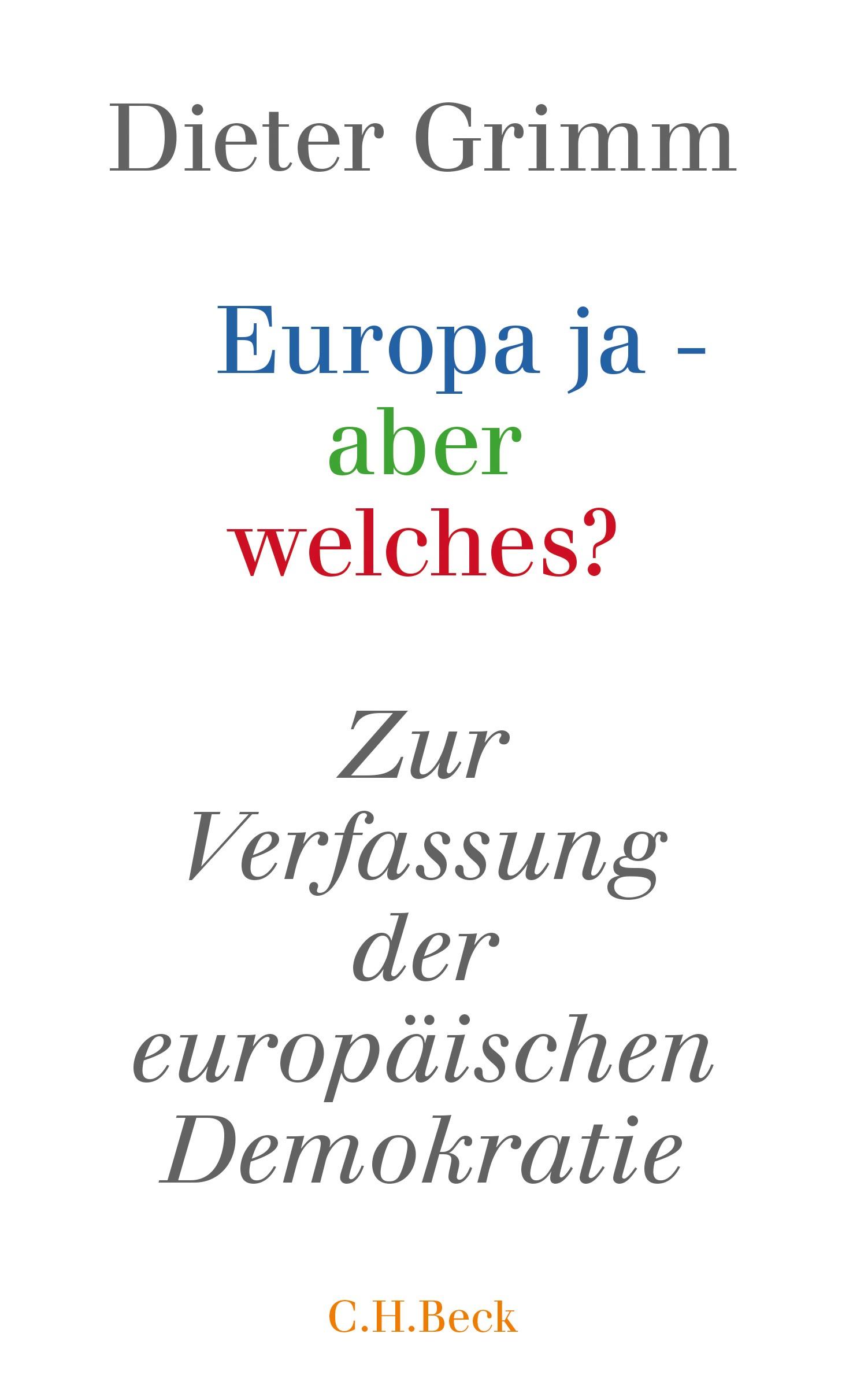 Cover des Buches 'Europa ja - aber welches?'