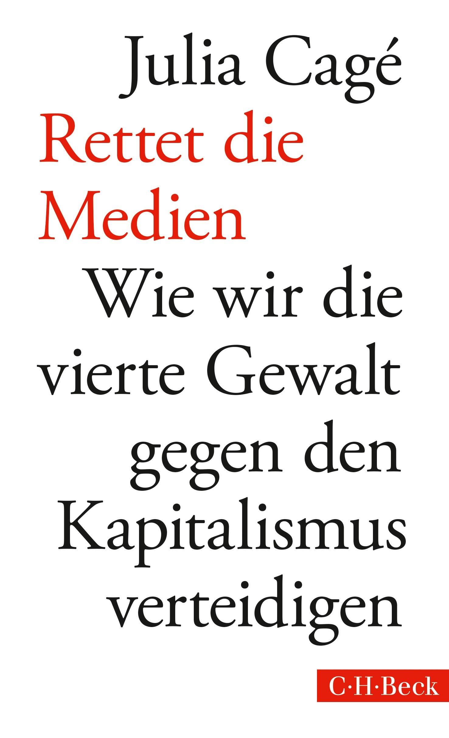 Cover des Buches 'Rettet die Medien'
