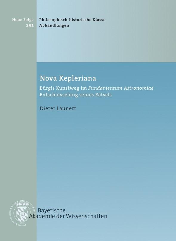 Cover des Buches 'Nova Kepleriana'