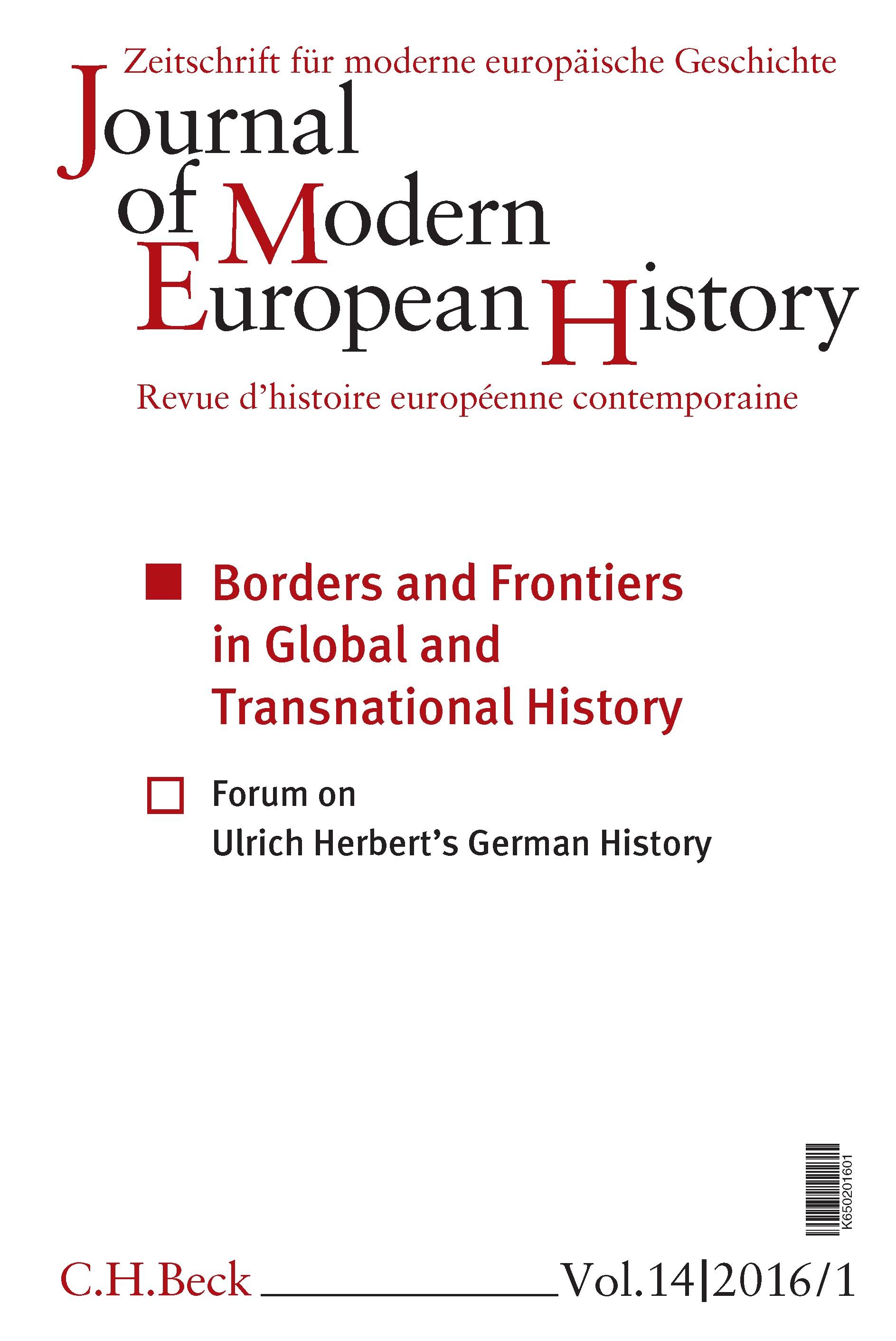 Cover des Buches 'Journal of Modern European History. Volume 14 (2016) Heft 1 = Zeitschrift für moderne europäische Geschichte = Revue d`histoire européenne contemporaine'