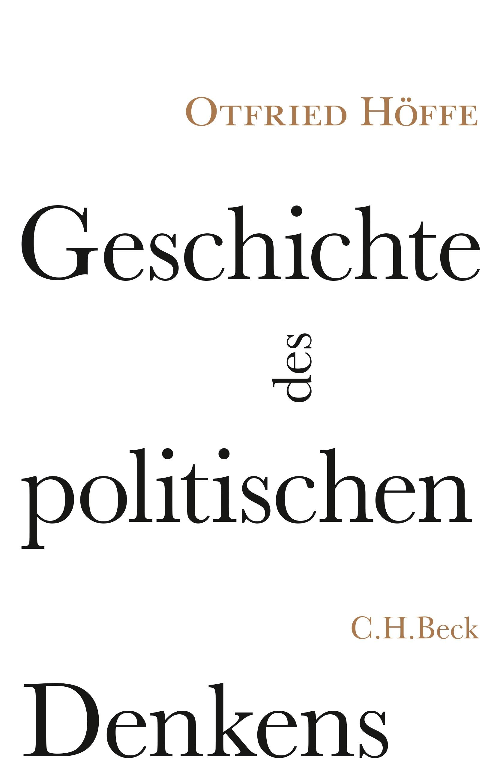 Cover des Buches 'Geschichte des politischen Denkens'