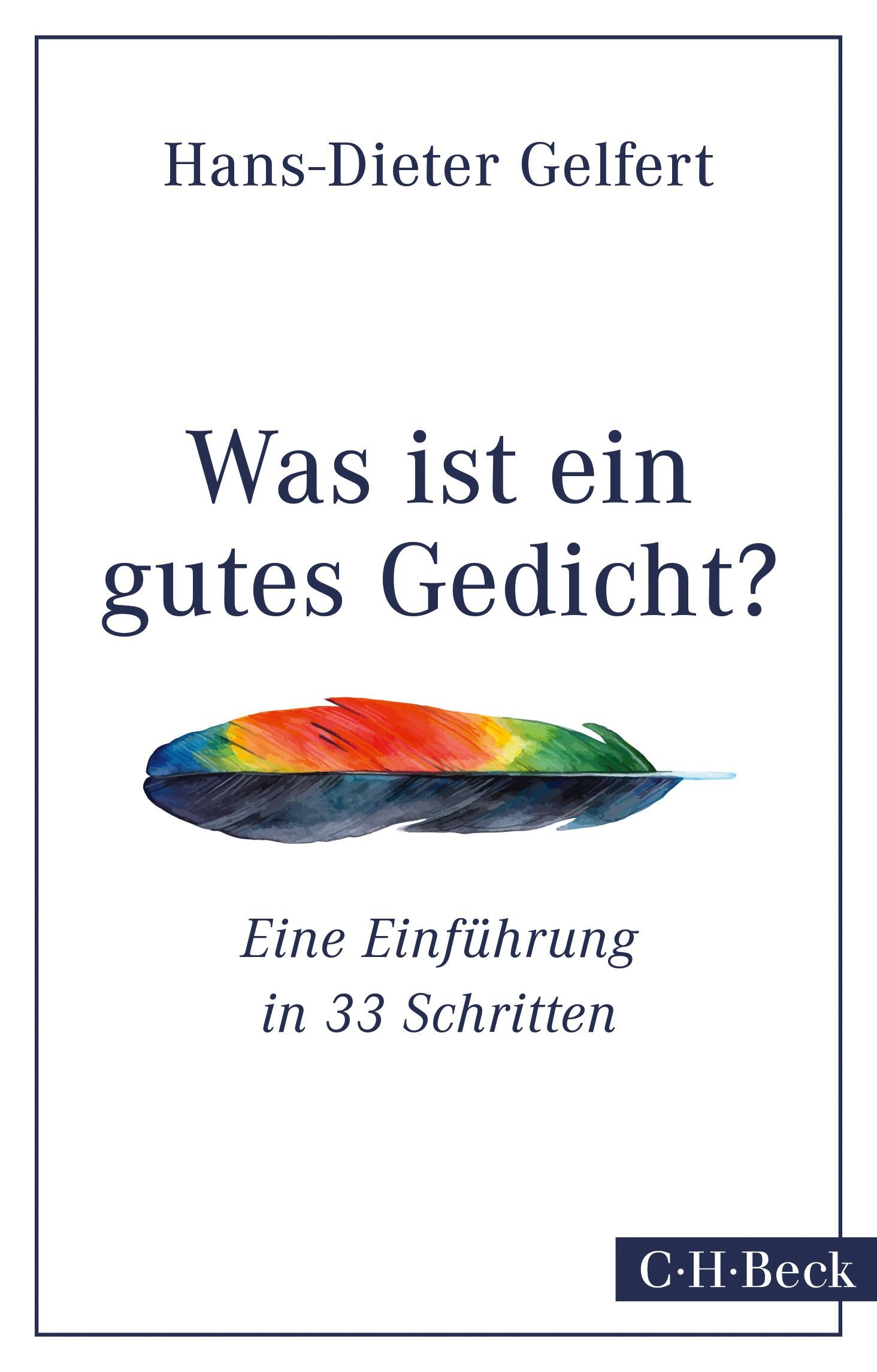 Cover des Buches 'Was ist ein gutes Gedicht?'