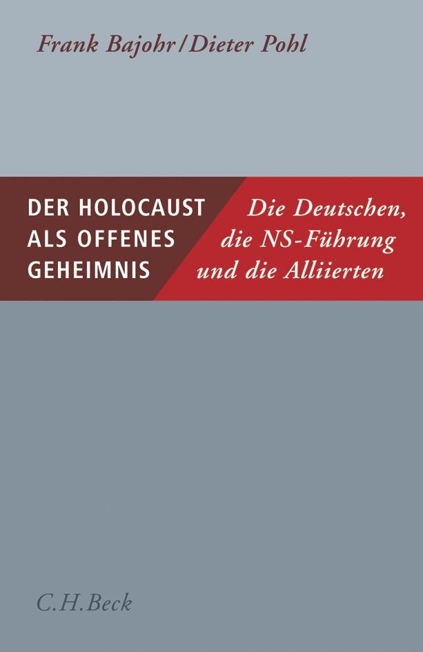 Cover des Buches 'Der Holocaust als offenes Geheimnis'