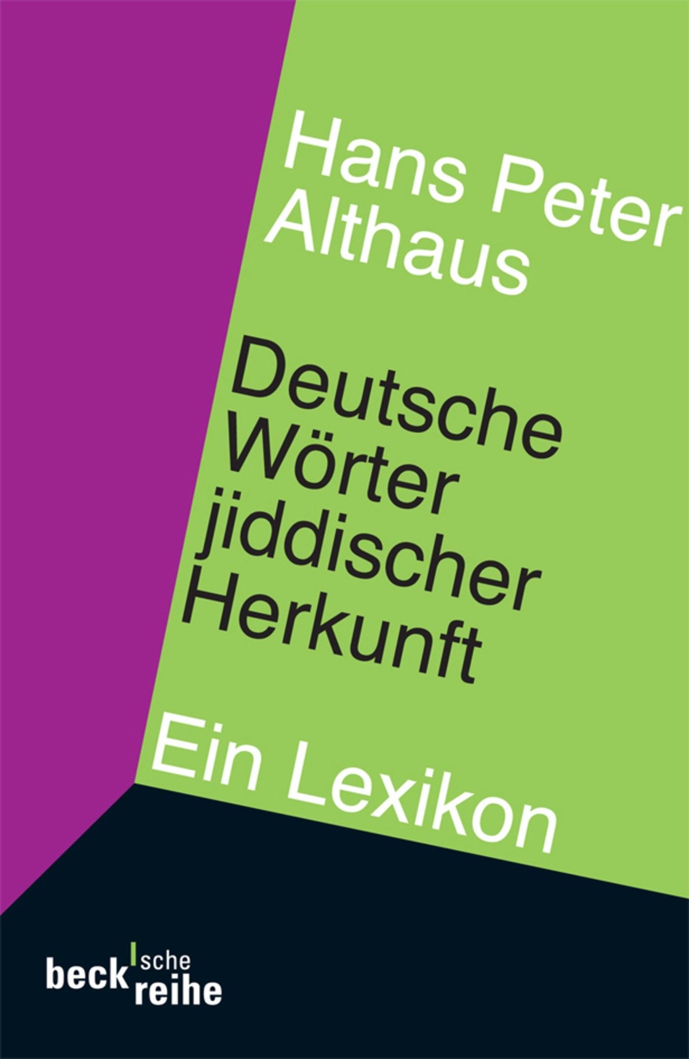 Cover des Buches 'Deutsche Wörter jiddischer Herkunft'