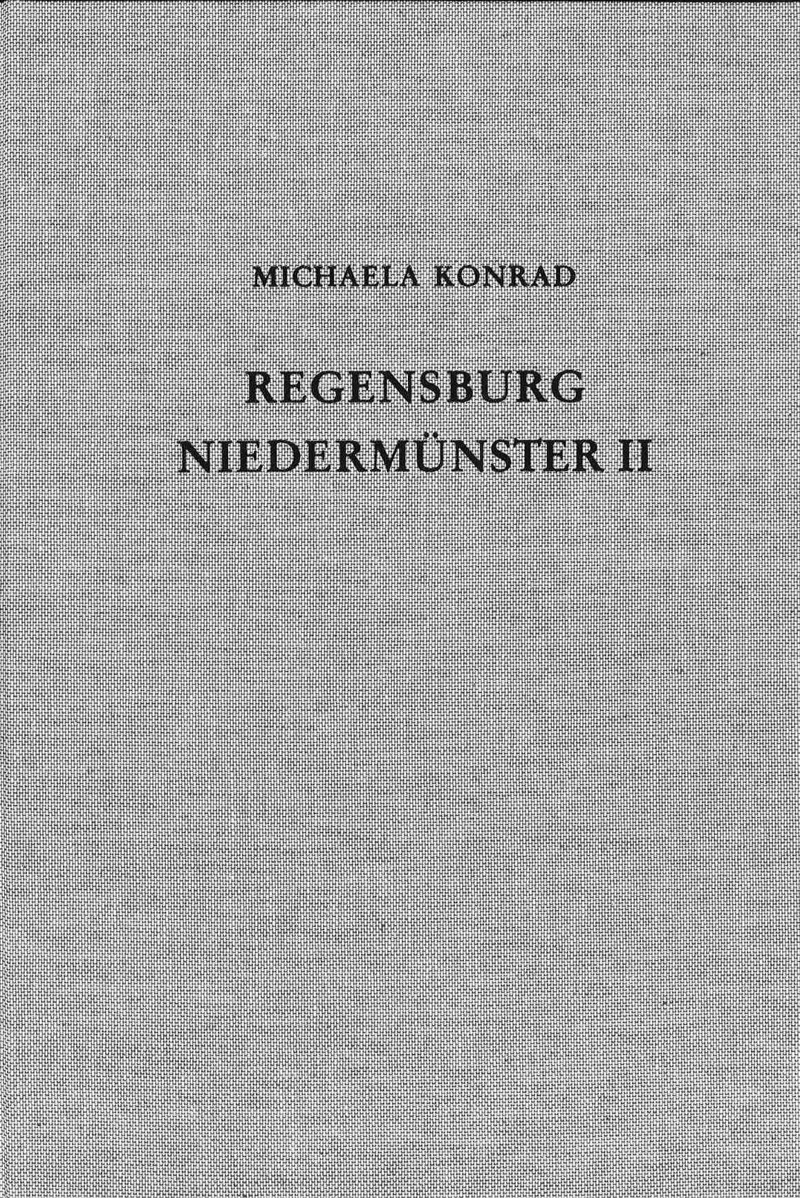 Cover des Buches 'Die Ausgrabungen unter dem Niedermünster zu Regensburg II'