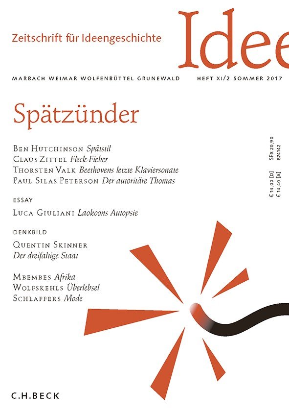Cover des Buches 'Zeitschrift für Ideengeschichte Heft XI/2 Sommer 2017'