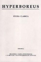 Cover des Buches 'Hyperboreus Vol. 15 Jg. 2009 Heft 1'