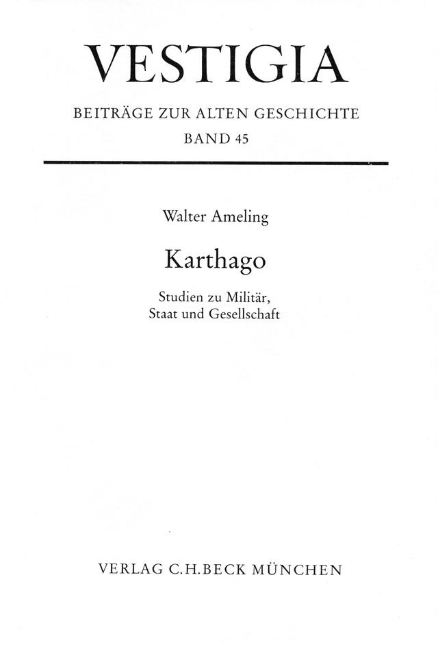 Cover des Buches 'Karthago'