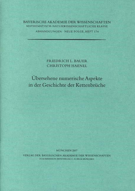 Cover des Buches 'Übersehene numerische Aspekte in der Geschichte der Kettenbrüche'