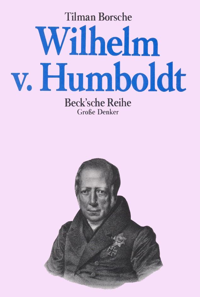 Cover des Buches 'Wilhelm von Humboldt'