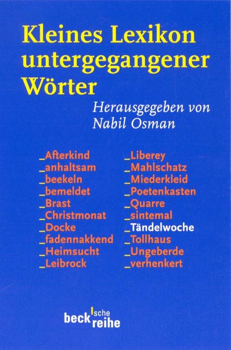 Cover des Buches 'Kleines Lexikon untergegangener Wörter'