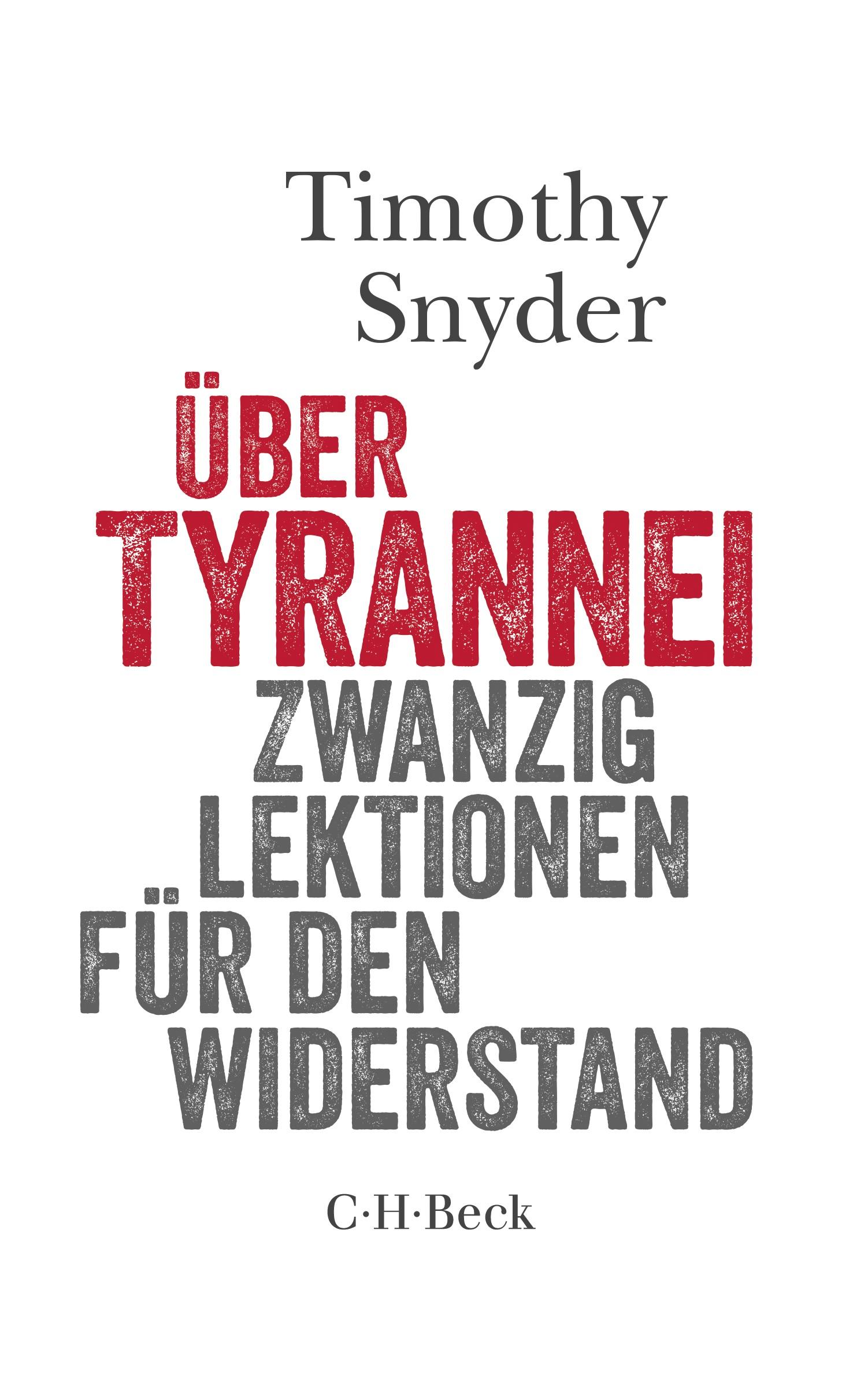 Cover des Buches 'Über Tyrannei'