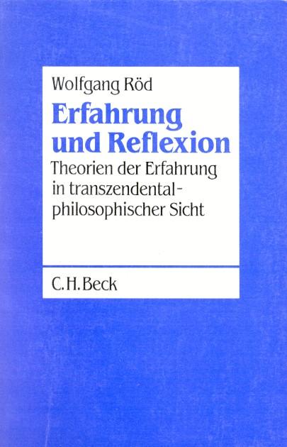 Cover des Buches 'Erfahrung und Reflexion'