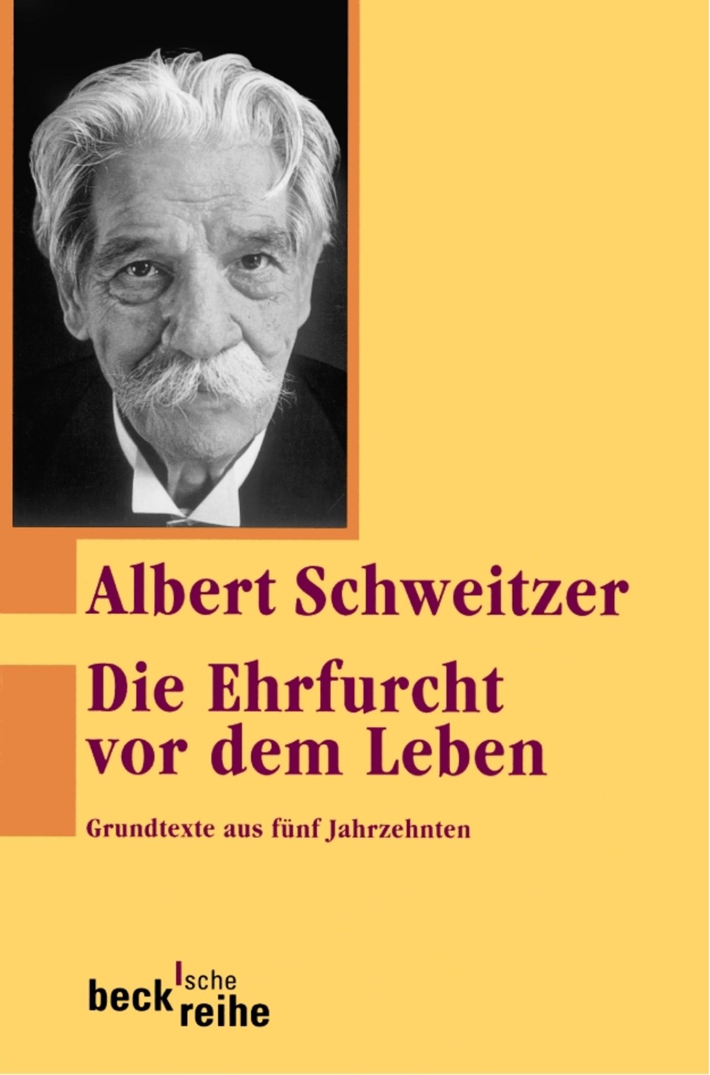 Cover des Buches 'Die Ehrfurcht vor dem Leben'