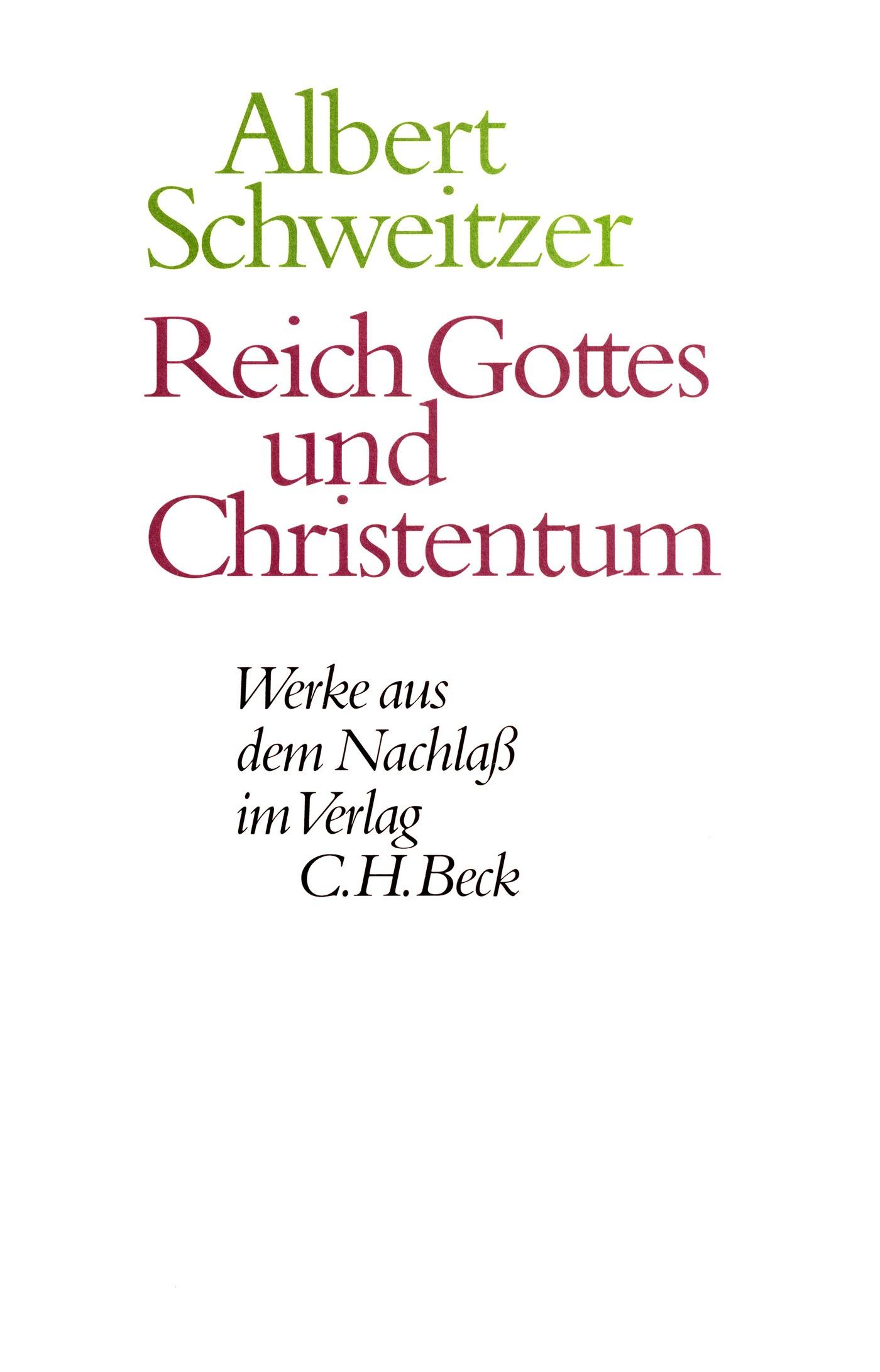 Cover des Buches 'Reich Gottes und Christentum'