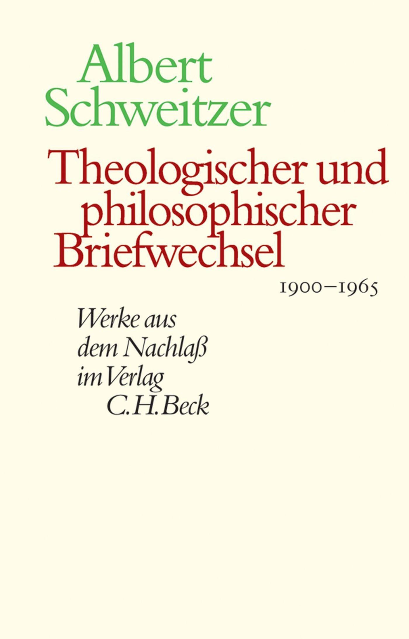 Cover des Buches 'Theologischer und philosophischer Briefwechsel 1900-1965'