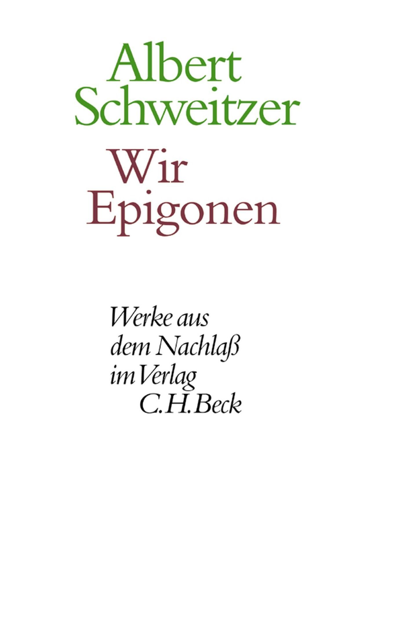 Cover des Buches 'Wir Epigonen'